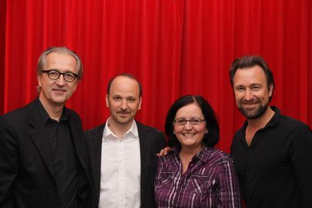 Georg F. Löffler (GLM), Johannes Tonio Kreusch (Gitarre), Michèle Claveau (GLM), Cornelius Claudio Kreusch (Piano)