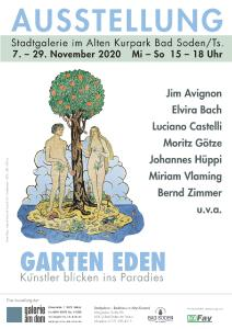 Ausstellungsplakat zur Gruppenausstellung Garten Eden