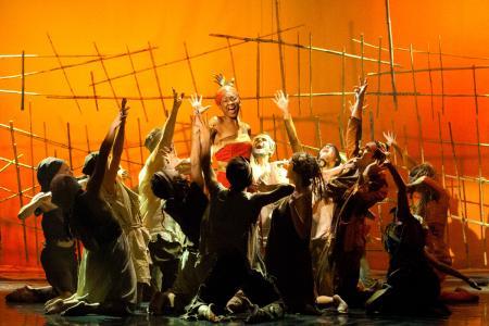 Eine Szene aus dem Musical AIDA
