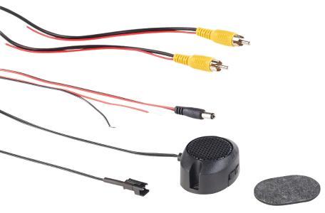PX 4146 10 Lescars Farb Rückfahrkamera im Nummernschildhalter m  Monitor und Abstandswarner
