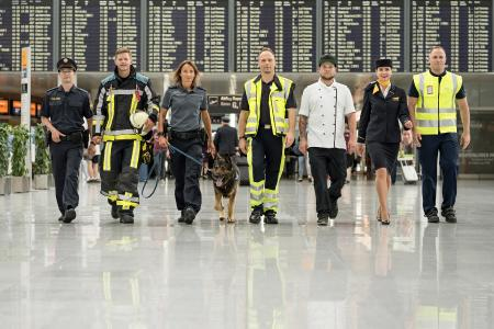 Der Münchner Airport bietet vielfältigste berufliche Perspektiven. Mittlerweile arbeiten über 38.000 Beschäftigte auf dem Flughafengelände / Copyright: Flughafen München/Yorck Dertinger