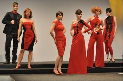 "Die Models des ""Team Créateur de Intercoiffure"" beim Kongress in Hamburg"