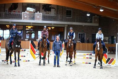 Talented riders and horses at training day