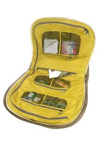 Große Außentasche an der Vorderseite mit 1 Reißverschlusstasche und 3 weiteren Fächern: innen 3 große Netztaschen mit Reißverschluss Masse: 65x59x14 cm