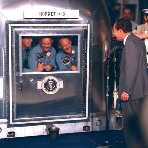 Airstream President Nixon und Neil Armstrong