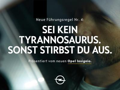 Kein Auto für Autokraten: Mit der neuen Insignia-Kampagne ruft Opel zu einem integrativeren Führungsstil auf
