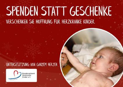 Spendengeschenk Bundesverband herzkranke Kinder e.V.