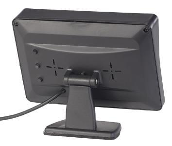 PX 4146 3 Lescars Farb Rückfahrkamera im Nummernschildhalter m  Monitor und Abstandswarner