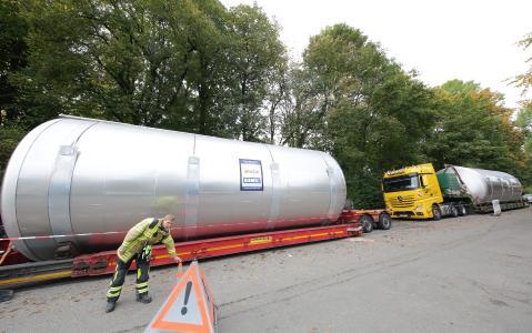 Horizontaler Gär- und Lagertank