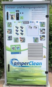 Seit 2010 auf dem Markt Patentierte CamperClean Reinigungsstation