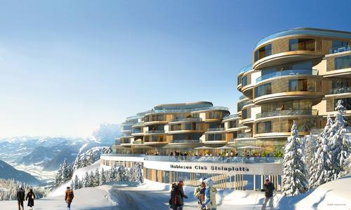 Eines der bereits fertig gestellten Objekte des Architekturbüros planquadrat Elfers Geskes Krämer ist der Robinson Club Steinplatte im österreichischen Kitzbühel