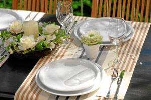 Tischdeko mit Kerze