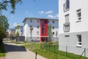 In Unterhaching errichtete die kommunale Baugesellschaft drei neue Wohnriegel aus massiven Unipor-Mauerziegeln. Die Entscheidung für den Baustoff fiel aufgrund seiner Werthaltigkeit sowie hohem Schall- und Wärmeschutz. Quelle: UNIPOR, München