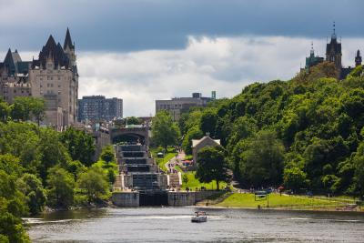 View of Rideau Canal Locks from Ottawa River