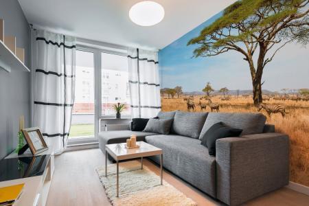 Die wilde Schönheit gibt es nicht nur in Afrika – sondern dank der tollen Digitaldrucktapeten auch an unserer Wand! (Foto: epr/Erfurt)