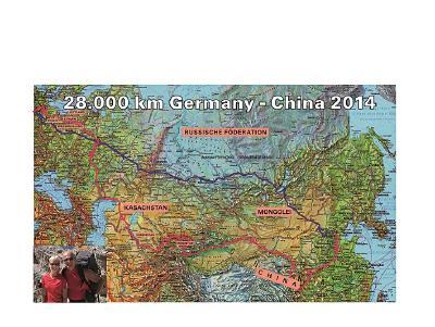 28.000 km von Bayern nach China mit Kerstin und Albert Knaus (Foto: Knaus)