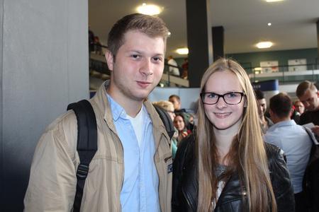 Fritz Roth und Stefanie Christians gehören zu den 3.500 neuen Studiereden der Hochschule Osnabrück und freuen sich auf ihr Studium am Campus Haste