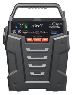 revolt Solar-Konverter & Powerbank HSG-750, 75 Ah, je 1x 230 V, QC 3.0 & USB, 2x 12 V / Bild: PEARL.GmbH / www.pearl.de