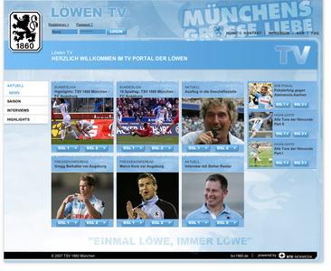 TSV 1860 zeigt Löwen TV im Internet. Online-Spezialist BTD Newmedia sorgt mit dem Betrieb der IP TV Plattform für ein unbeschwertes TV-Erlebnis der weiß-blauen Fangemeinde.