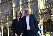 Bock Bio Science-Inhaber Friederike und Stephan von Rundstedt freuen sich über die Auszeichnung mit dem Bremer Umweltpreis 2019