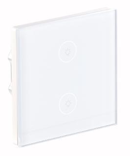 NX 4505 01 Luminea Home Control Touch Doppel Lichttaster LHC 102.on. Amazon Alexa und Google Assistant kompatibel