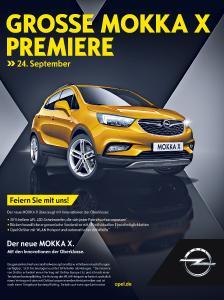 Doppelt fährt besser: Der neue Opel MOKKA X feiert am 24. September in Deutschland Händlerpremiere – und der neue Opel Zafira gleich mit