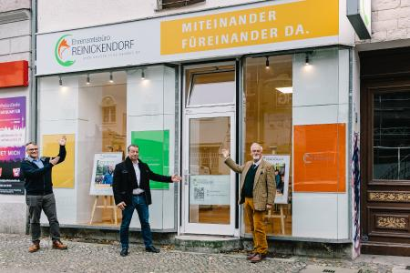 Vor dem zusätzlichen Standort des Ehrenamtsbüros Reinickendorf, Foto: Patricia Kalisch