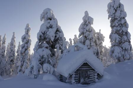 Idyllische Winterlandschaft © Valkea Lodge