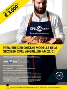 Angrillen bei Opel am 23. Januar: Alle Modelle können ab sofort mit dem persönlichen Online- und Service-Assistenten Opel OnStar bestellt werden – darauf ein gutes Steak!
