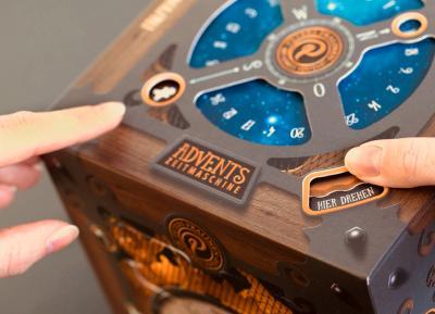 Advents Zeitmaschine mit Trüffel Pralinen von Peters