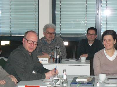 Referierten im Seniorenbeirat: Sven Theiß, Albrecht Harres, Marcel Dehn und Kirsten Schmidt (von links) (Foto: Sabine Galle-Schäfer/Vogelsbergkreis)