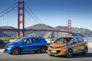 Eyecatcher: Der neue Opel Ampera-e vor der Golden Gate Bridge in San Francisco