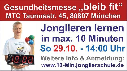 Jonglier-Schnellkurs am 29.10.2017 in München