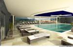 Grafik des Panoramaschwimmbades im neuen Hotel Edelweiss Berchtesgaden | Quelle: Hotel Edelweiss Berchtesgaden