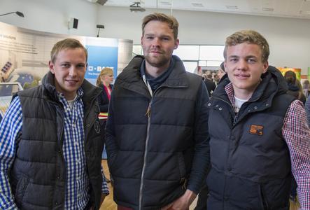 Lohnt sich auch ein zweites Mal: Nils Dibbern, Thilo Pries und Johannes Arkenstette (v.l.) waren schon im letzten Jahr auf der Karrieremesse
