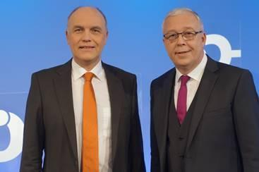Freikirchenleiter Johannes Naether (li.) und Werner Dullinger © Foto: Jens Mohr/APD