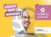 Postkartenmotiv Mann zum Welt MS Tag 2019 - Motto #sichtbarwerden