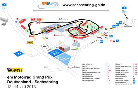Lageplan Sachsenring 2013