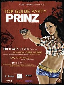 "Flyer ""PRINZ Top Guide Party Hamburg 2007"""