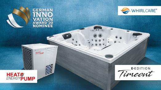 Mit der WCI Heat Energy Pump und dem Whirlpool-Modell Timeout wurde Whirlcare Industries für den German Innovation Award 2020 nominiert