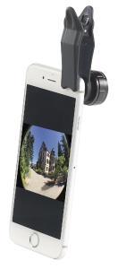 Somikon 4er-Set Premium-Vorsatzlinsen, Weitwinkel, Fischeye, Makro, Pol-Filter