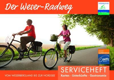 Weser-Radweg Serviceheft 2018 Cover