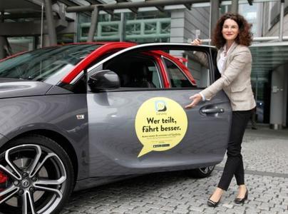 """""""Wer teilt, fährt besser"""": Opel-Marketingchefin Tina Müller eröffnete heute die neue Opel-Carsharing-Community – kurz CarUnity"""