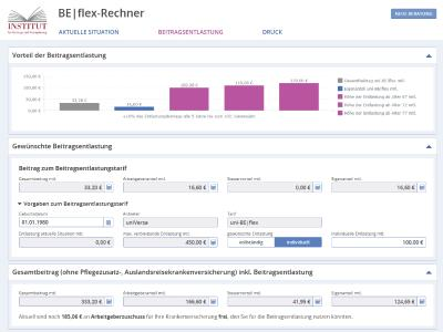 uniVersa-Beitragsentlastungsrechner in neuem Design. Foto: uniVersa
