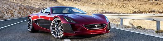 Teilnehmer RIMAC Concept One, ein Elektro-Sportwagen mit 1.088 PS, 0-100 km/h in 2,8 sec, 305 km/h