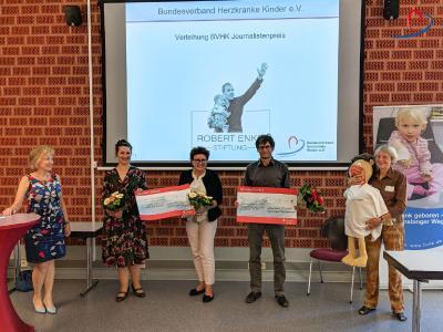 Die Preistägerinnen und Preisträger des BVHK Journalistenpreises