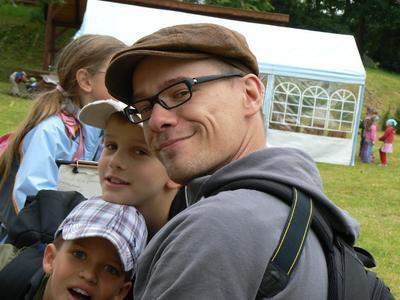 Praktikant für die Umwelt Marcus Kehlert bei Aktionstag Umweltbildung in Blankenförde