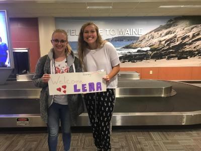 Lena hat drei Wochen in den USA verbracht: Bei ihrer Ankunft in Portland, Maine wurde sie herzlich begrüßt.
