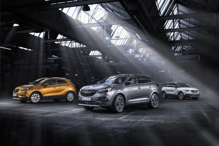 Die Antwort von Opel im boomenden SUV-Segment: Mokka X, Grandland X und Crossland X (von links)