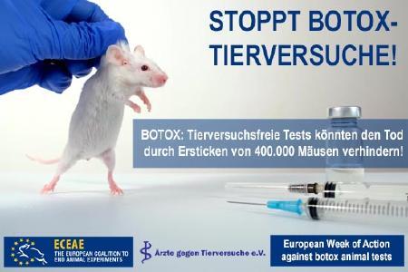Gefordert: Die Streichung der grausamen Botox-Tierversuche aus dem Europäischen Arzneibuch
